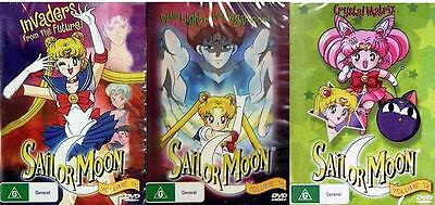Sailor Moon Volumes 15-17 - Animated Childrens New Dvd Sealed Movie