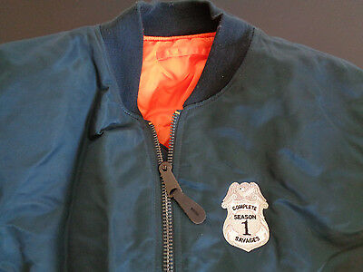 COMPLETE SAVAGES Season 1 ABC Firefighter Cast PROMO Crew Jacket LARGE TV Show
