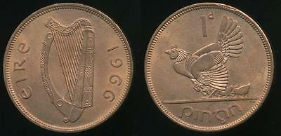 Ireland, Republic, 1966 One Penny, 1d - Uncirculated