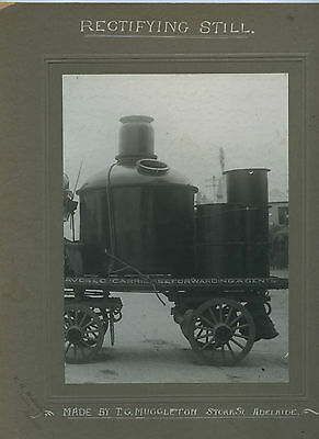 1910 BOARD PHOTO BRANDY RECTIFYING STILL BY MUGGLETON ENGINEERS ADELAIDE SA d72.