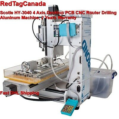 Scotle HY-3040 4 Axis CNC Aluminum Router Machine for Drilling, Milling -  - DHL