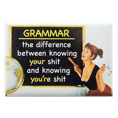 Know Your Grammar Fridge Magnet Funny Decor Retro Novelty Gift Kitsch Humour