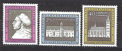 ALEMANIA/RDA EAST GERMANY 1967 MNH SC.960/962 Reformation 450th