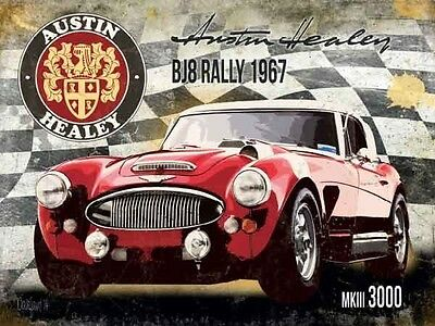 Austin Healey BJ8 Rally 1967 MKIII 3000 Vintage Old Small Metal/Tin Sign Picture