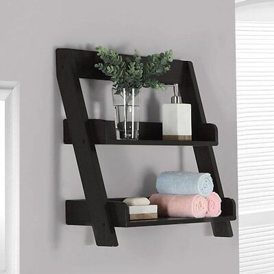Monarch Specialties I 3436 24-in Bathroom Wall Mount Shelf