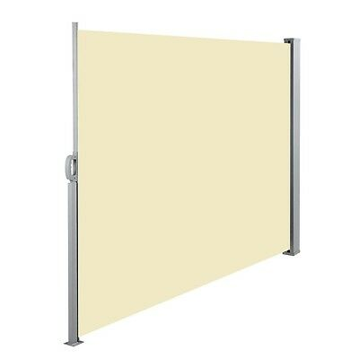 Retractable Side Awning Shade 180cm Beige Outdoor Sun Weather Protection