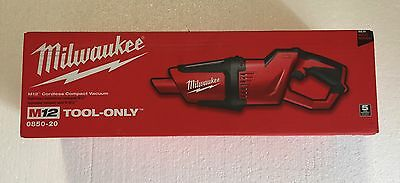 Milwaukee 0850-20 M12 12-Volt Lithium-Ion Cordless Compact Vacuum (Tool Only))