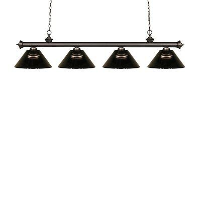 Z-Lite 200-4OB-ARS Riviera 4 Light Billiard Light with Acrylic Shades