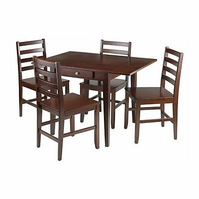 Winsome Wood 94561 Hamilton 5-Piece Drop Leaf Dining Table Set