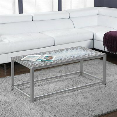 Monarch Specialties I 3140 Tile Top Cocktail Table