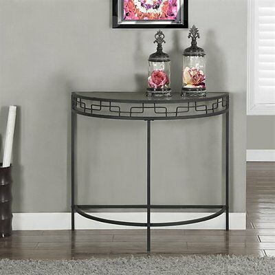Monarch Specialties I 2111 36-in Metal Hall Console Accent Table