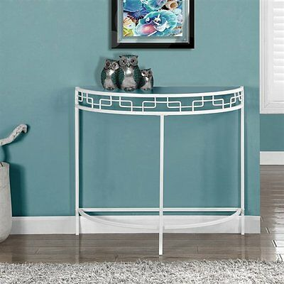 Monarch Specialties I 2112 36-in Metal Hall Console Accent Table