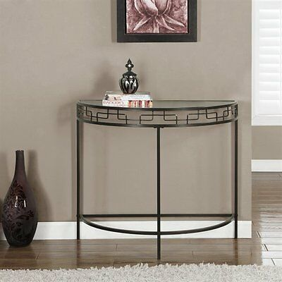 Monarch Specialties I 2113 36-in Metal Hall Console Accent Table