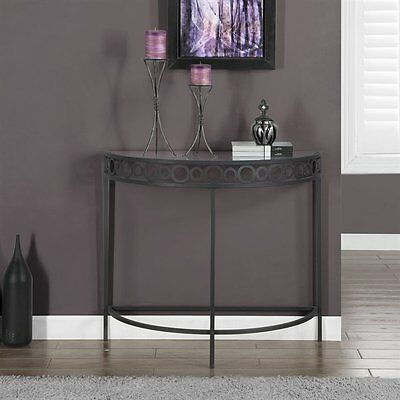 Monarch Specialties I 2121 36-in Metal Hall Console Accent Table
