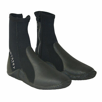 Odyssey 5mm Wetsuit Boots Zipped Kayak Surf Jetski Sailing Diving Shoe Size 4-12