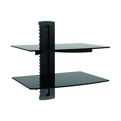 TygerClaw LCD8212BLK Double Layer Wall Mount DVD Stand