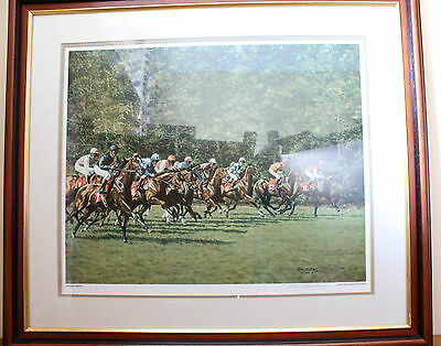 Roy Miller Evergreen Champions Limited Edition Horse Racing Jockey Colour Print