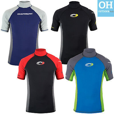 Osprey Mens Short Sleeve Rash Vest Surf T-Shirt UV 50+ Protection Guard Swim