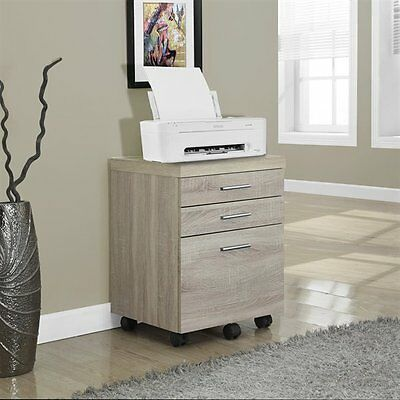 Monarch Specialties I 7050 3 Drawer Mobile File Cabinet