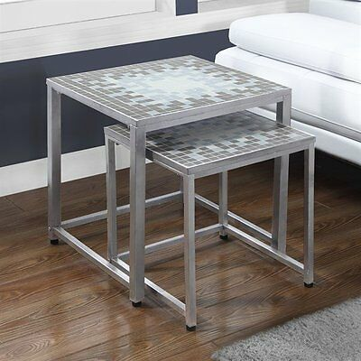 Monarch Specialties I 3141 Tile Top Nesting Tables