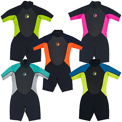 Odyssey Core 3/2mm Childs Kids Junior Teenage Shortie Wetsuit Swim Beach Kayak