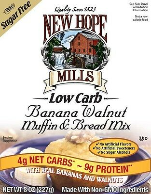 New Hope Mills Sugar Free Muffin and Bread Mix Banana Walnut 227g, Low Carb,Monk