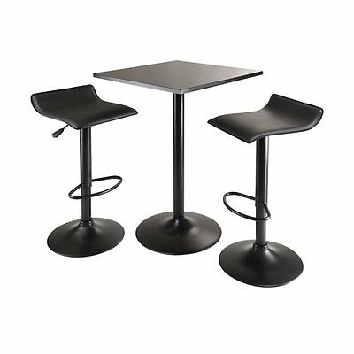 Winsome Wood 20325 Obsidian 3-Piece Counter Height Pub Set