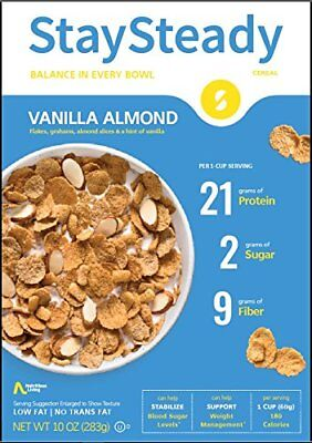 Nutritious Living Hi-Lo Cereal Vanilla Almond 284 g, Low Carb, No Added Sugar