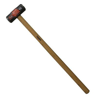 Task Tools T72310 10-lb Sledge Hammer with Hickory Handle