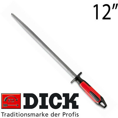 "F DICK Round Regular Cut Butcher Knife Sharpening Steel 12"" 30cm *2430* 7 517130"