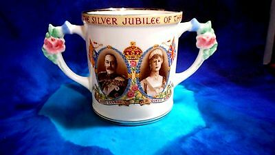1935 Paragon Silver Jubilee Hrh King George V And Queen Mary Loving Cup