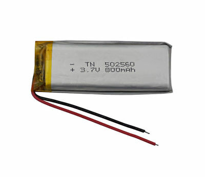 3.7V 800 mAh Polymer Li Battery Lipo For Camera mp4 headset pen glasses 502560