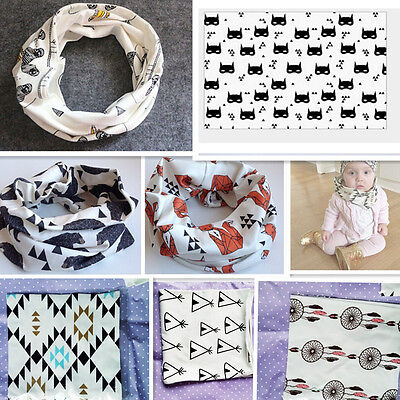Kids Baby Toddler Scarves Neck Wraps Ring Scarf Shawl Neckerchief 11 Patterns