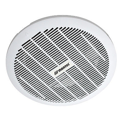 Martec Core Round 250Mm Ceiling Exhaust Fan - Kitchen Bathroom - White - Mxfc25W
