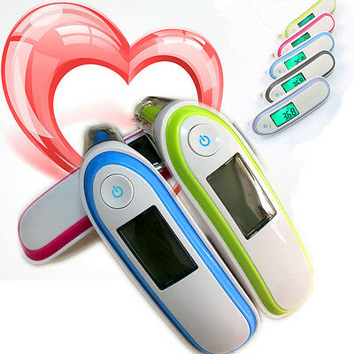 Dual PortableEar/forhead Infrared Digital Thermometer Temperature kids+memories