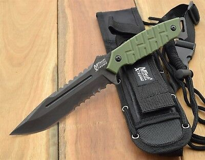 MTech USA XTREME TACTICAL Tanto Fighter FIXED KNIFE Military Knives MX8137GN