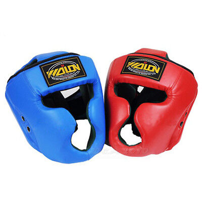 Cool MMA Headgear Head Guard Training Helmet Kick Boxing Sparring Gear Protector