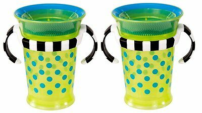 Sassy Grow Up Cup,Blue/Green,7 Oz,2-Count from Sassy Color:Green/Blue Size: 7Oz.