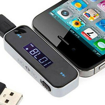 IN CAR WIRELESS MP3 FM RADIO TRANSMITTER HANDS FREE FOR iPHONE iPOD SAMSUNG HTC