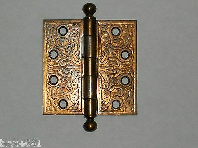 Antique Eastlake Design Door Hinges by Russell & Erwin