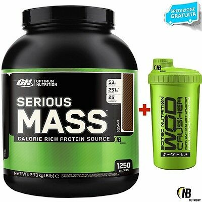 ON Optimum Nutrition Serious Mass 2727g Gainer Proteine Whey e Creatina +OMAGGIO
