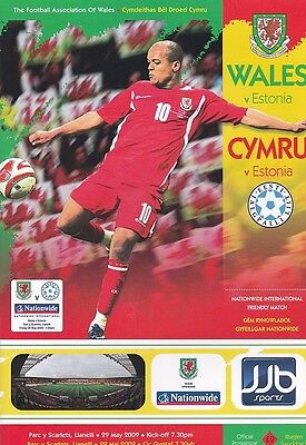 * 2009 - WALES v ESTONIA (INTERNATIONAL FRIENDLY - 29th May 2009) *