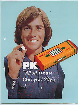 1970's Wrigley's P.k Chewing Gum Promotional/advert Sheet Shopkeepers Aust. C6