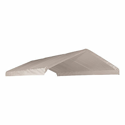 12X20 Heavy Duty 12mil Valance Replacement Canopy Tarp Carport Cover -White NEW
