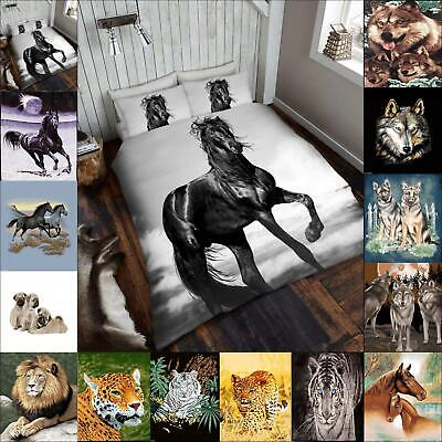 Faux Fur Throw Double King Size 3D Animal Blanket Print Sofa Bed Large Fleece