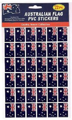 Pack Of 72 Small Australian Flag Stickers