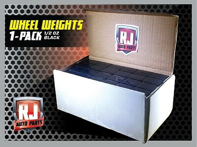 One 9 LB Box Black Wheel Weights 1/2 Oz Stick On Adhesive Tape 288 Pieces
