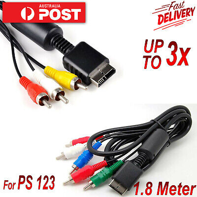 3 RCA 5 RCA to AV Audio & Video Cable Cord For Sony Playstation 2 3 PS1 PS2 PS3