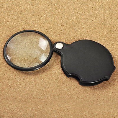 Quality Mini Pocket Folding Magnifier Magnifying Glass Loupe Lens Camping Travel