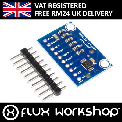 16 Bit I2C Analogue to Digital Convertor Pro Gain Amp ADS1115 4 Ch Flux Workshop